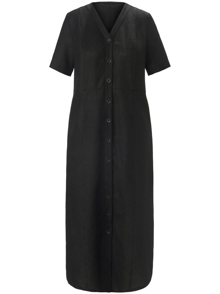 ANNA AURA Abendkleid Kleid aus 100% Leinen in schwarz