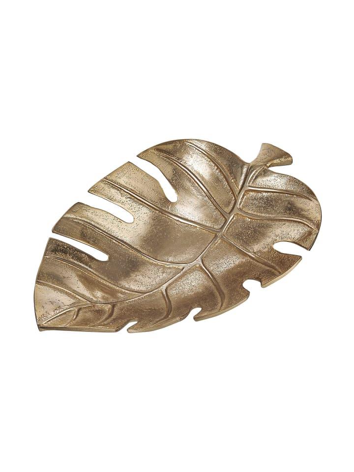 Butlers Deko-Schale Monstera L 30 x B 20cm GOLDEN NATURE in gold