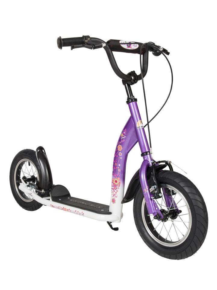 "BIKESTAR Kinder Roller ""Sport"" in Lila Weiß - 12 Zoll"