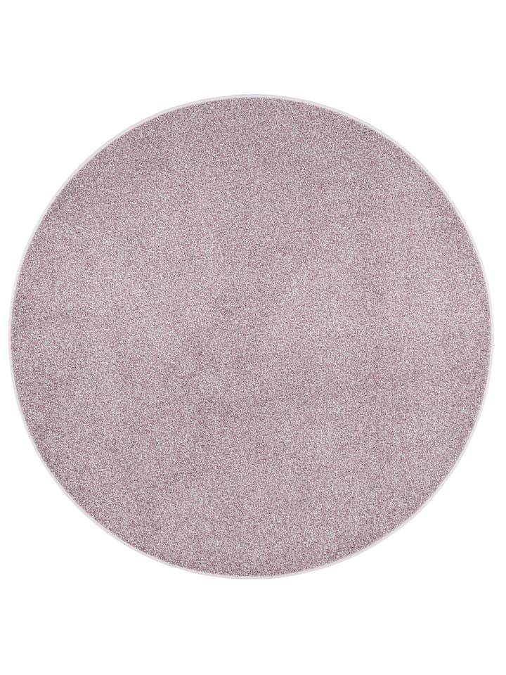 Snapstyle Hochflor Velours Teppich Luna Mix Rund in Altrosa