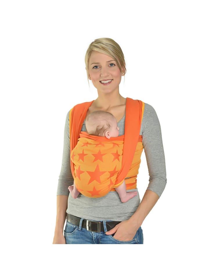 Hoppediz Babytragetuch gewebtes Tragetuch in Los Angeles orange