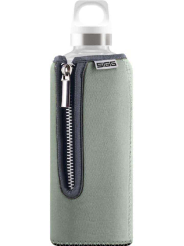 SIGG Trinkflasche STELLA Grey, Glas mit Neoprenüberzug, 500 ml