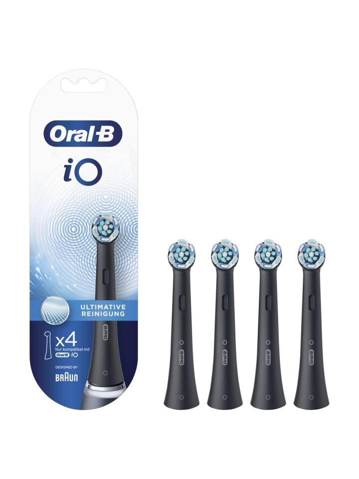 """Oral-B Aufsteckbürsten """"iO Ultimative Reinigung BLACK"""" (4er Pack)"""