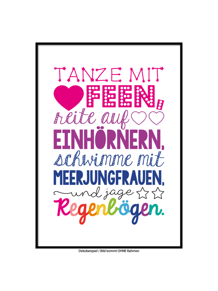 "SMART ART Kunstdrucke Kunstdruck / Poster ""jage Regenbögen"" / A4 oder A3"