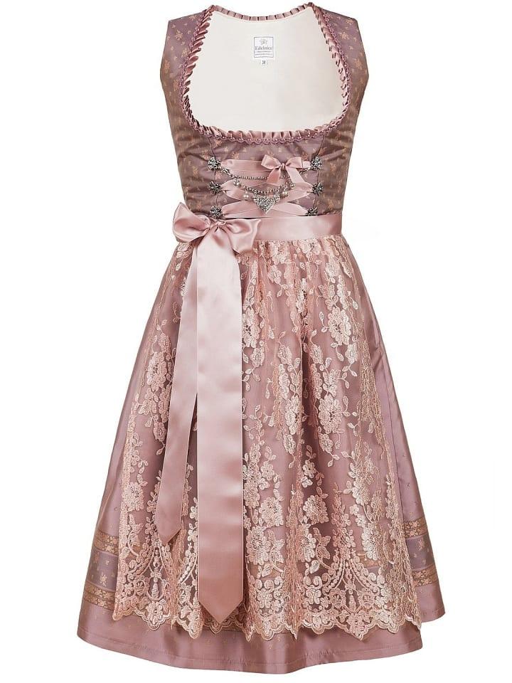 Edelnice Midi Dirndl 2-teilig Madeleine in rosa