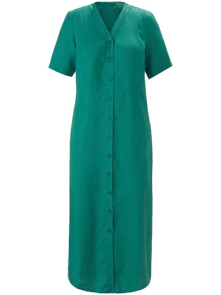 ANNA AURA Abendkleid Kleid aus 100% Leinen in grün