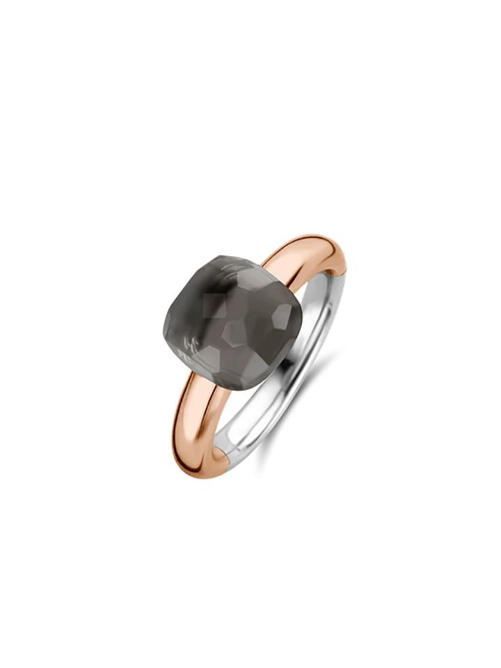 """Ti Sento Milano Ring """"grau bicolor rosè"""" in bunt und grau"""