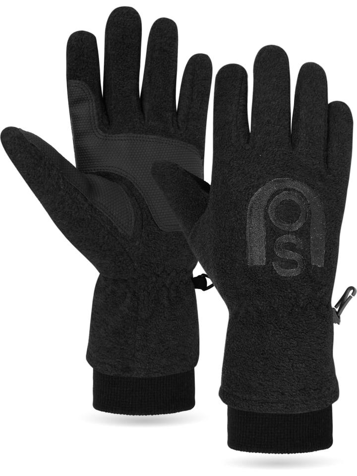 Normani Fleece Handschuhe Appat in Schwarz