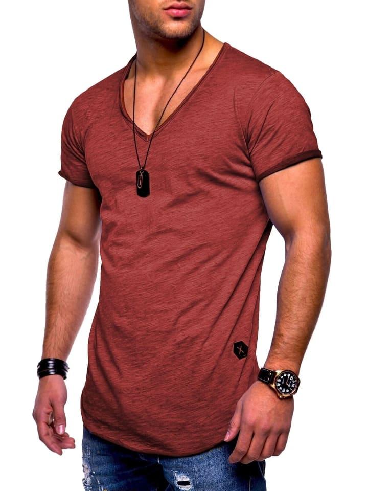 Behype T-Shirt NUKE in bordeaux (wash)