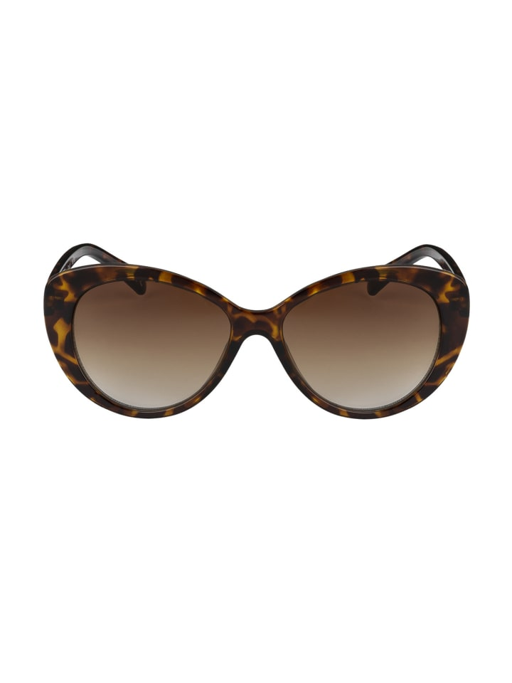 Six Sonnenbrille im Butterfly-Design mit Schildpatt-Optik in BROWN