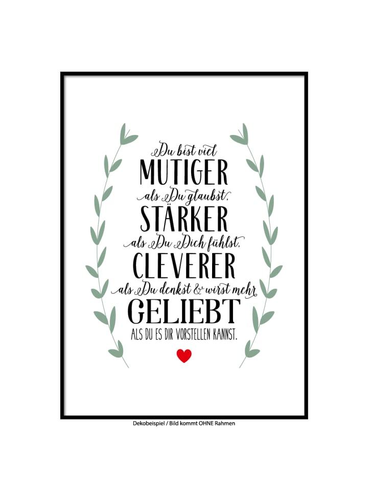 """SMART ART Kunstdrucke Kunstdruck / Poster """"geliebt"""" / A4 oder A3"""