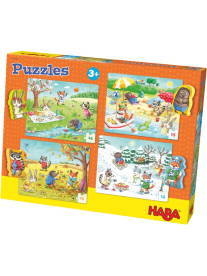 Haba 301888 Puzzle-Set 4 x 15 Teile - Jahreszeiten