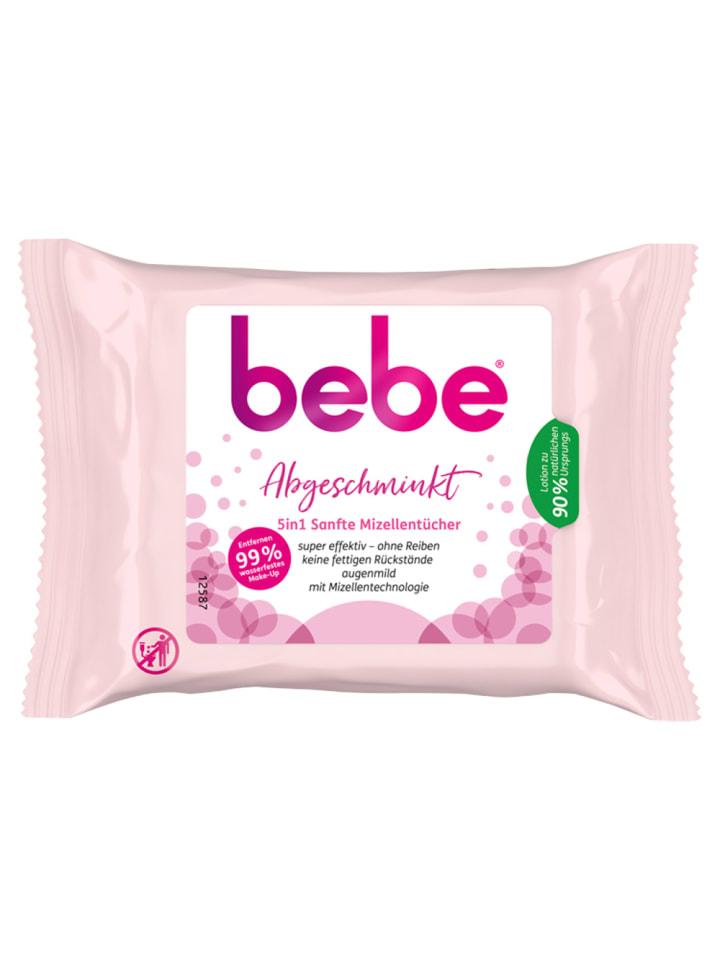 """Bebe Mizellentücher """"Abgeschminkt ‒ 5in1"""" – 25 Stück"""