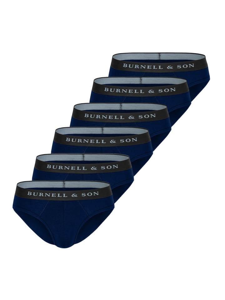 Burnell & Son Slip / Unterhose 6er Pack - Basic in Marine