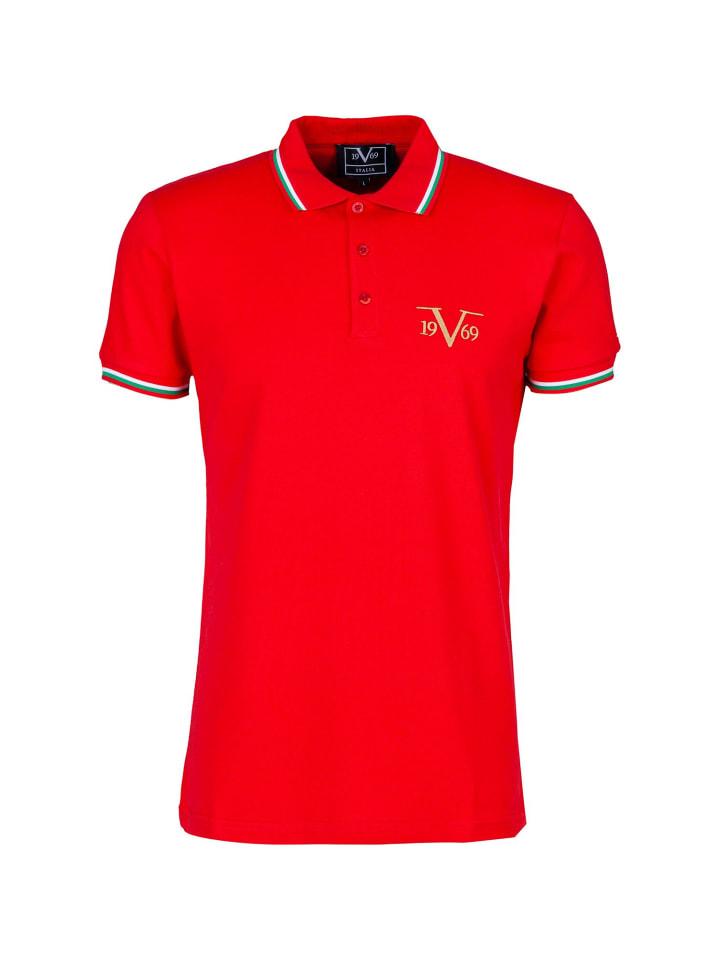 19V69 Italia by Versace Poloshirt Logo in rot