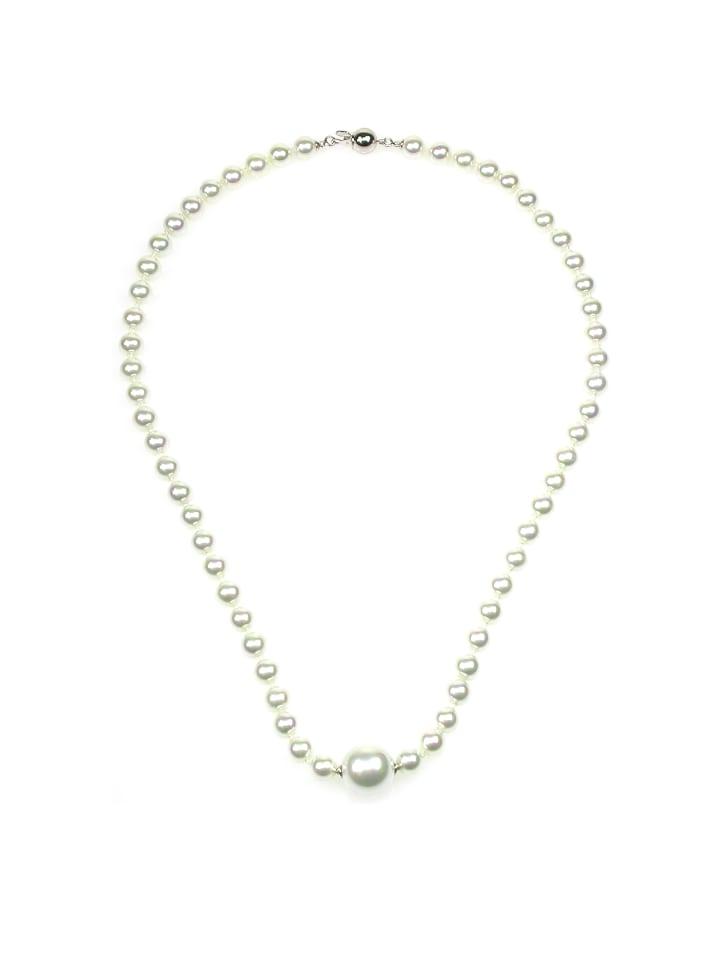 Perlas Orquidea  Perlenkette Nilsa Necklace in weiß