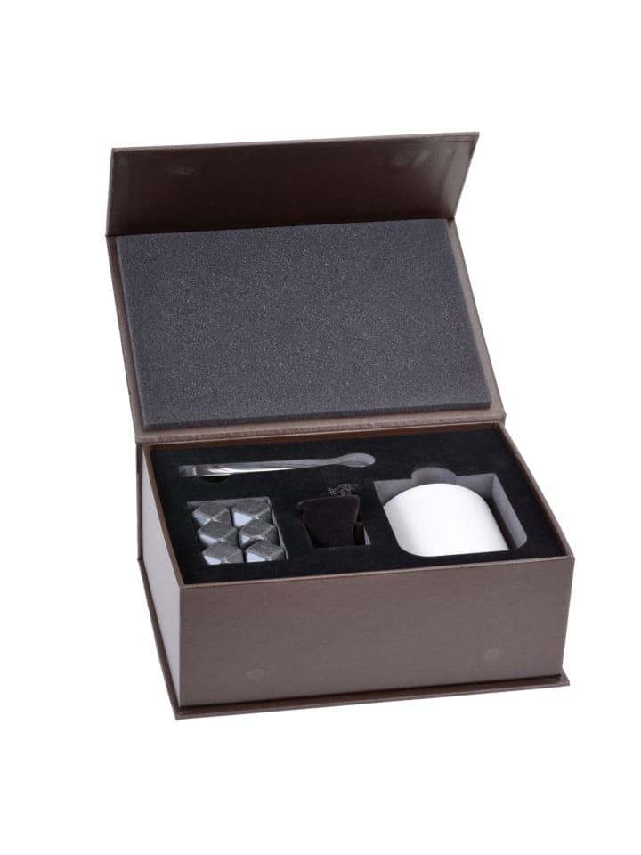 GRÄWE Whiskeysteine-Geschenkset in grau