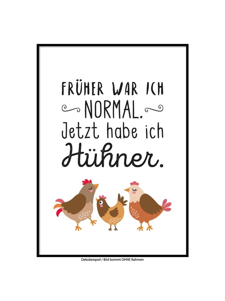 "SMART ART Kunstdrucke Kunstdruck / Poster ""Hühnerverrückt"" / A4 oder A3"