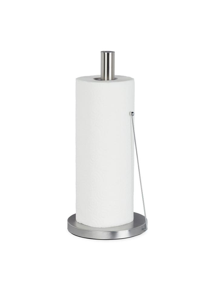 Relaxdays Küchenrollenhalter in Silber - (H)33 x Ø15 cm
