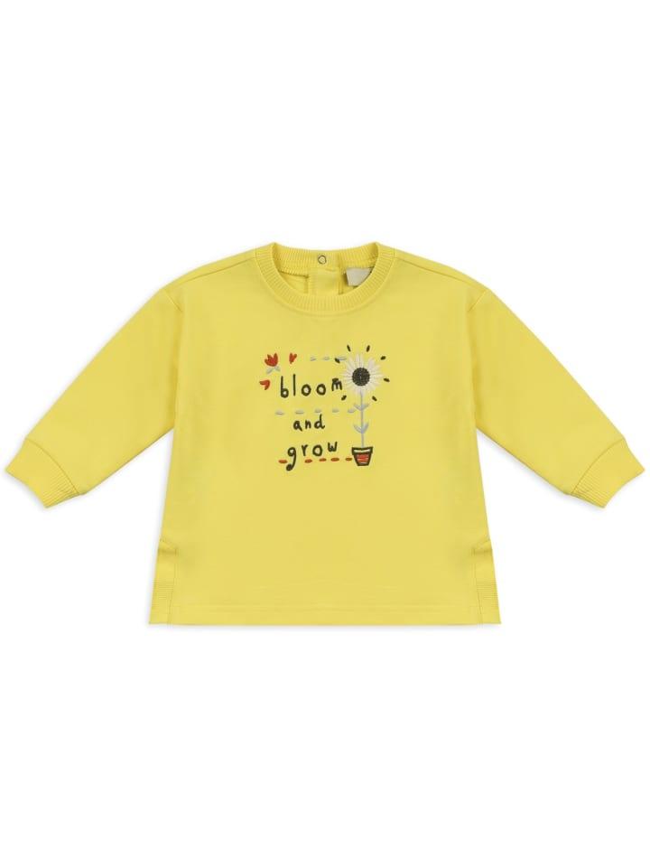 Panco Sweatshirt - mit Blumenmuster - für Mädchen in Gelb