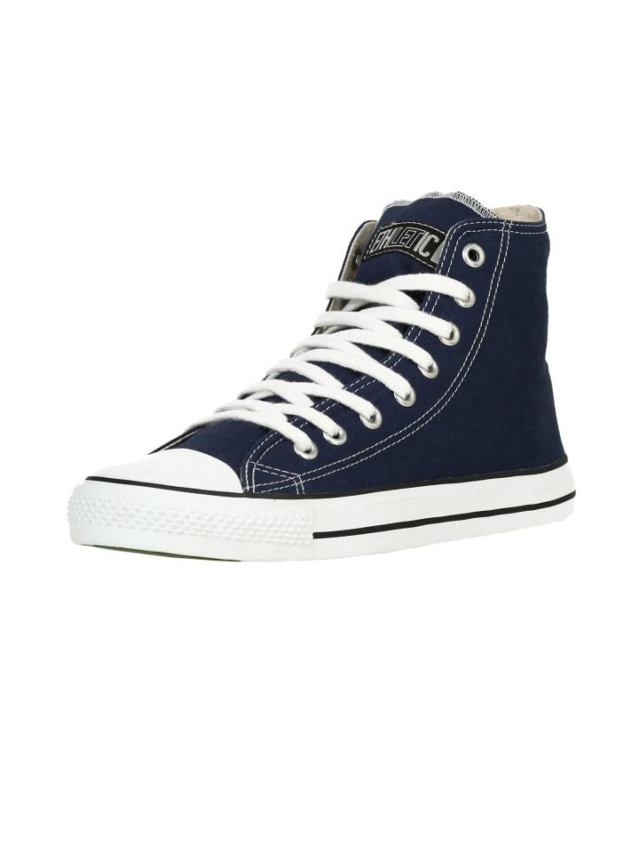 Ethletic Sneaker Hi Fair Trainer White Cap in ocean blue   just white