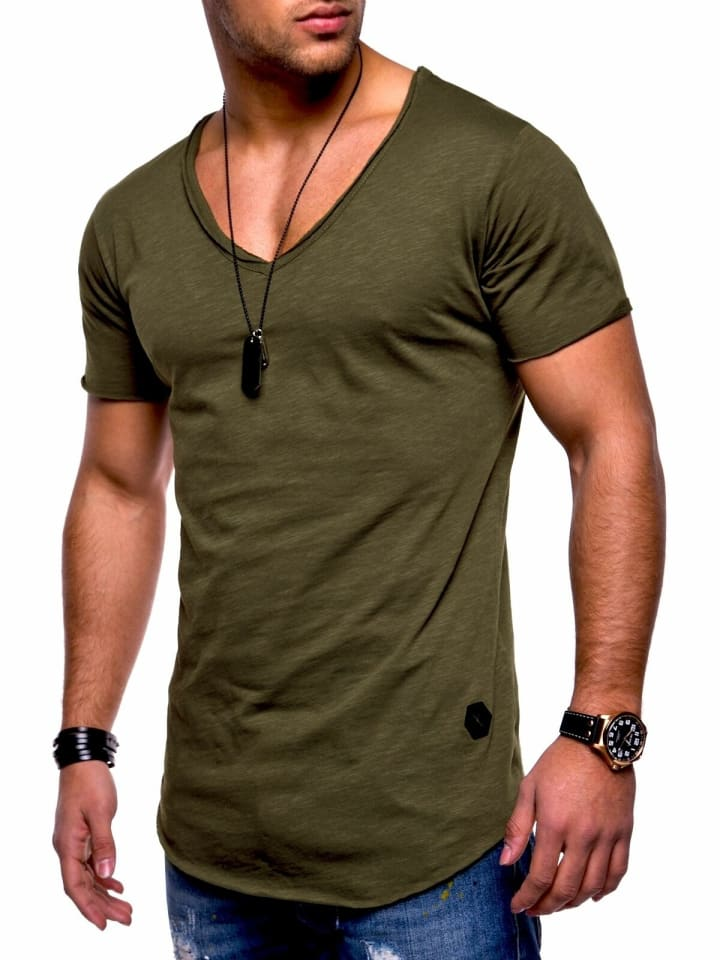 Behype T-Shirt NUKE in khaki