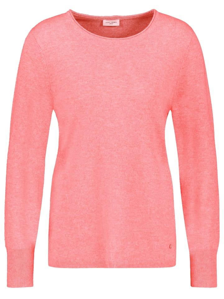 Gerry Weber Pullover Langarm Rundhals in Pink