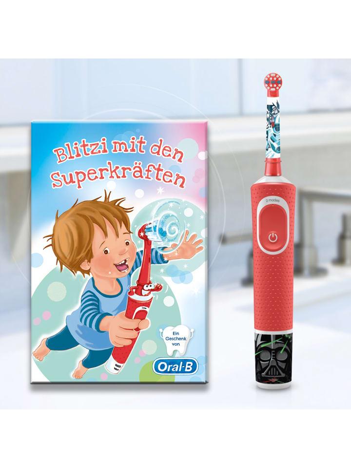"""Oral-B Elektrische Zahnbürste """"Vitality 100 Kids StarWars"""" + Kinderbuch Blitzi"""
