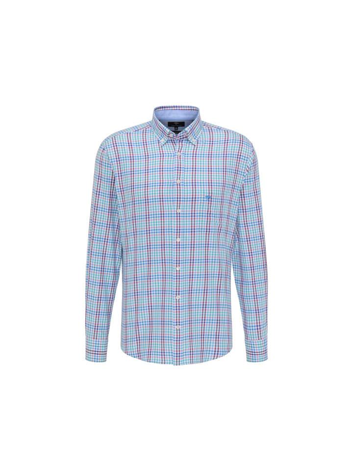 FYNCH-HATTON Langarm Freizeithemd in uni