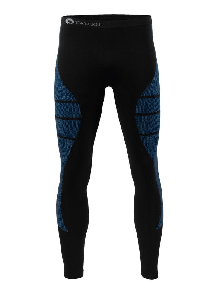 Stark Soul® Skiunterwäsche - Hose Funktionsunterwäsche in schwarz/blau