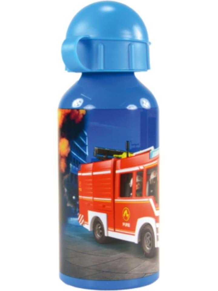 United Labels AG Alu-Trinkflasche Playmobil Feuerwehr, 400 ml