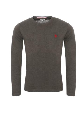 U.S. Polo Assn. Polo LongSleeve Shirt in Anthrazit
