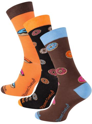 Vincent Creation® DONUT Socken 3 Paar - One Size in Bunt