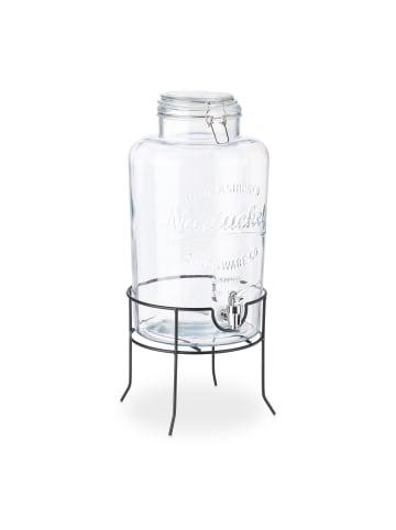 Relaxdays Getränkespender Set in Transparent