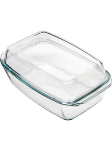 BOHEMIA Selection feuerfeste Glas Schüssel eckig mit Deckel, bis 300°C, 2,8l