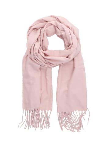 Six Rosafarbener Schal mit Fransen aus recyceltem Material in rosafarben
