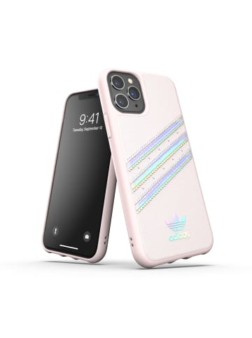 """Adidas Moulded Case """" orchid tint/holographic"""" für iPhone 11 Pro in pink"""