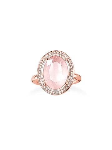 """Thomas Sabo Ring """"Rosenquarz TR2044-537-9"""" in gold und pink und weiß"""