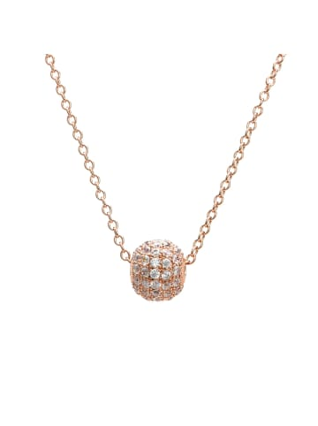 """EYE CANDY Collier """"KUGEL"""" in Rosegold aus Sterling-Silber"""