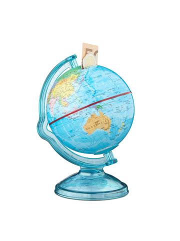 Relaxdays Spardose Globus in Bunt -  (H)16,5 x Ø 14 cm