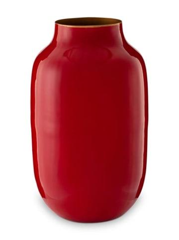 "PiP Studio Vasen ""Metal Oval Red"" in Rot - 30cm"