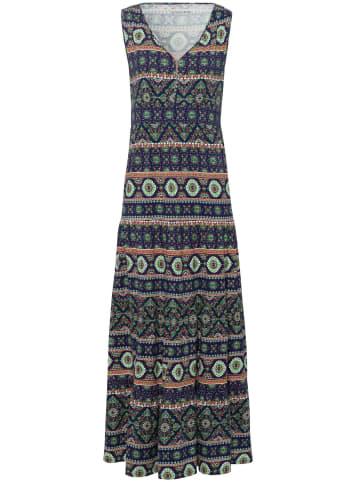 Green Cotton Jerseykleid Jersey-Kleid in dunkelblau/multicolor