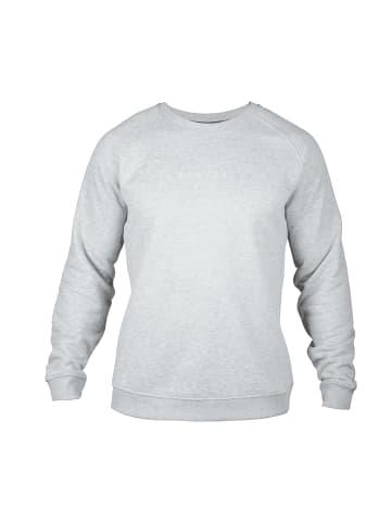 MOROTAI Pullover Logo Basic Sweatshirt in Hellgrau