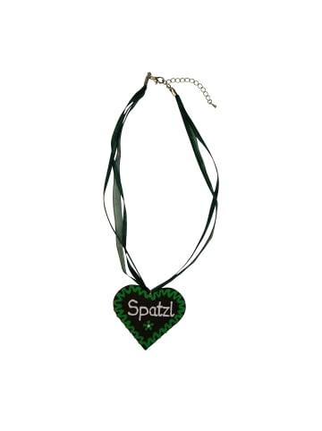 Edelnice Halskette Spatzl in grün