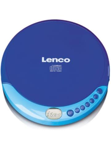 Lenco CD-011BU - portabler CD-Spieler mit Akku-Ladefunktion, blau