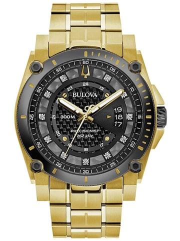 Bulova Analog Uhr 'Precisionist' in Gold/Schwarz
