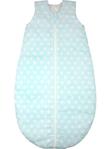 Odenwälder Ganzjahres-Schlafsack , white stars soft mint Gr. 90cm