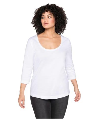 Sheego Shirt in weiß