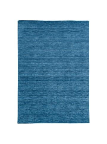 Theko Natur Teppich Indo Gabbeh Ella in Blau