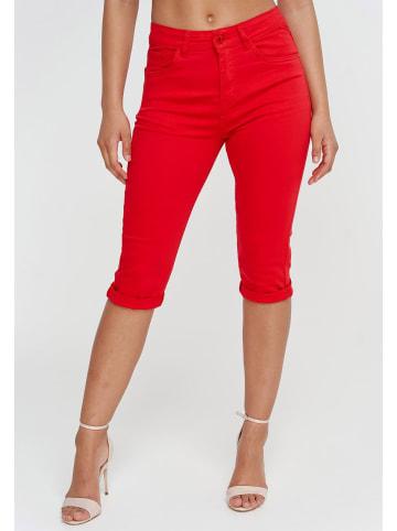 I dodo Capri Jeans Shorts 3/4 Stretch Kurze Chino Hose Bermuda Pants in Rot